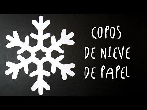 Manualidad como hacer COPOS DE NIEVE de PAPEL by ART Tv SUPER FACIL