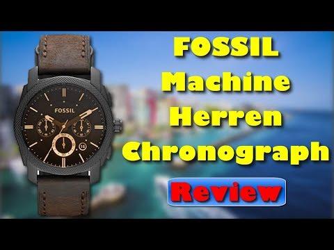 Fossil FS4656 Machine Kollektion Herren Chronograph mit Lederarmband Review