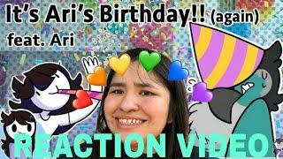 """Jaiden Animations """"Ari's Birthday (again)"""" (REACTION)"""