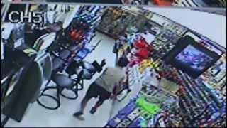Dramatic Surveillance Video Shows Gas Station Shootout