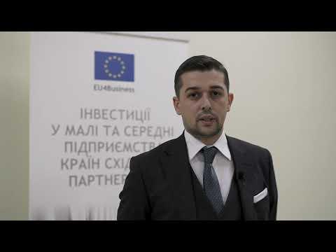 Інтерв'ю з координатором проектів з МСБ у ЄБРР Тимуром Халіловим на Форумі «ЛегПромЕкспорт» (7 листопада 2019 р.)