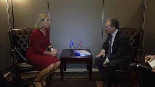 Foreign Minister Zohrab Mnatsakanyan's Meeting with Federica Mogherini, High Representative of the EU for Foreign Affairs and Security Policy