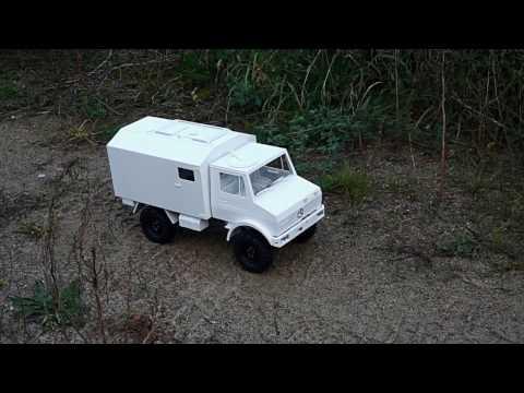 1:10 BW Unimog 435 U1300L Sanitätskoffer auf AXIAL SCX10  maiden voyage Teil 5