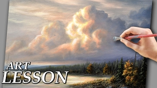 How To Paint Clouds   Acrylic Landscape Painting Lesson