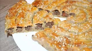Qat-Qat Qiymali Mazzali Pirog/Вкуснота Из Слоеного Тесто И Фарша.