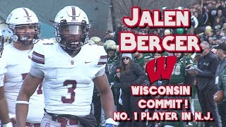 Jalen Berger ULTIMATE 2019 Highlights | Wisconsin Commit | Don Bosco Prep (N.J.) Athlete