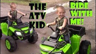 Cool Little Lion Cruising The Block - 20 Minute 4 Wheeler Ride/ Kid On An ATV