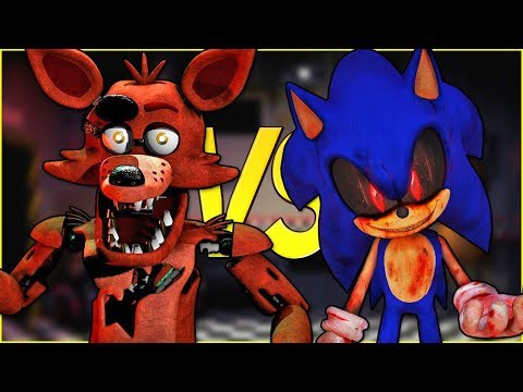 ФОКСИ FNAF VS СОНИК ЕХЕ | СУПЕР РЭП БИТВА | Foxy 5 Nights At Freddy's ПРОТИВ Sonic.Exe