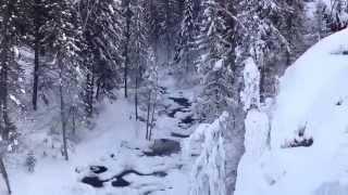 Пещерский водопад зимой 2015г.
