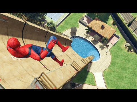 GTA 5 Epic Ragdolls | SPIDERMAN ep.47 (Euphoria Physics)
