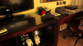preview picture of video 'Hotel Room Review, Hilton City Center, Bath, UK'