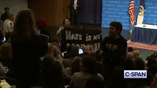 Protesters Disrupt Acting Homeland Security Secretary