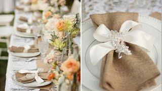 Burlap Wedding Decoration Ideas
