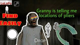 5 easy way to find pliers in granny horror game (v- 1.6)All locations of engine pliers in granny