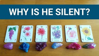 WHY IS HE SILENT? ❤️ *Pick A Card* No Contact Love Relationship Singles Tarot Reading Timeless