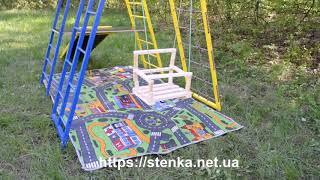 Спортивный уголок для детей с площадкой, горкой и качелей от компании SportStenkaUA Шведская стенка, спортивный уголок с производства, Киев - видео