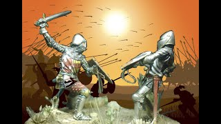Diorama 54 mm Medieval Knights scale figures