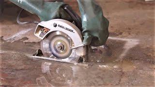 Cutting Concrete with a Circular Saw