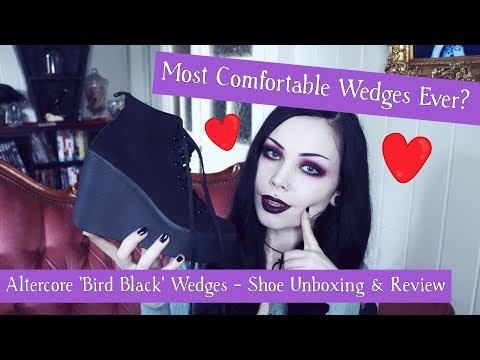 MOST COMFORTABLE WEDGES EVER? || Altercore 'Bird Black' Shoe Unboxing & Review