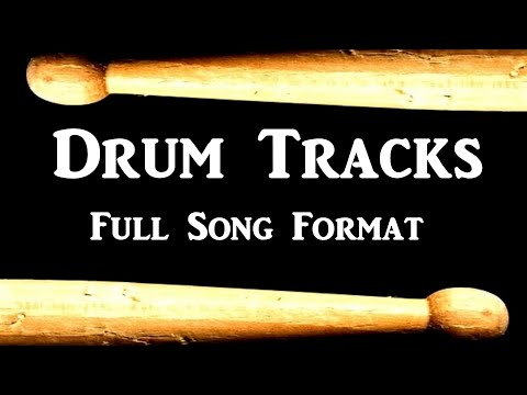 Slow Rock Drum Beat 95 BPM Bass Guitar Backing Track Loop