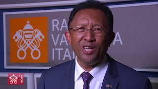 M. Hery Rajaonarimampianina, président de Madagascar