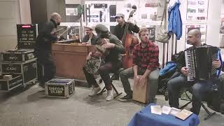 Amazing Street Performers  singing stunning covers and great original music on piano on a violin.