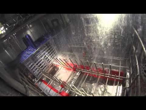 The View From Inside the Samsung WaterWall Dishwasher