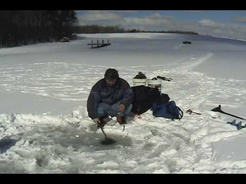 Pond Ice Fishing for Walleye, Perch and Crappie Get-Reel Fishing