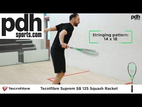 Tecnifibre Suprem SB squash rackets range 2017 review by PDHSports,com