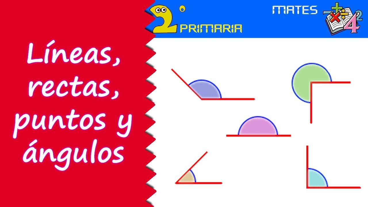 Matemáticas. 2º Primaria. Tema 11. Líneas, rectas, puntos y ángulos