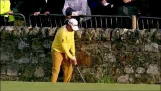 Open Moments: Miguel Ángel Jiménez's amazing shot at the 2010 Open Championship