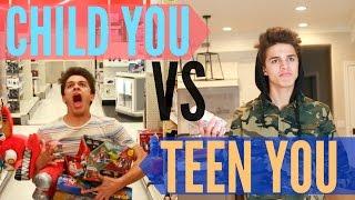 Child You VS Teenage You! | Brent Rivera - dooclip.me
