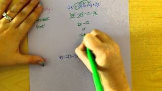 Simplifying And Solving Equations Quiz Review