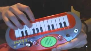 Circuit bent My Music World Mini Piano by Simba Toys