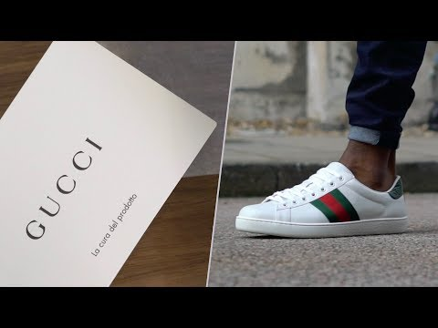 GUCCI ACE UNBOXING   THE MOST PREMIUM HYPEBEAST SNEAKER ON THE MARKET?