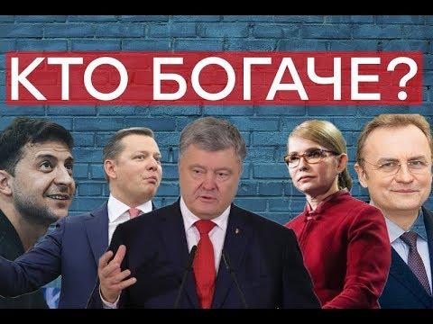 Фото Сколько денег у кандидатов в президенты Украины?  Утро в Большом Городе