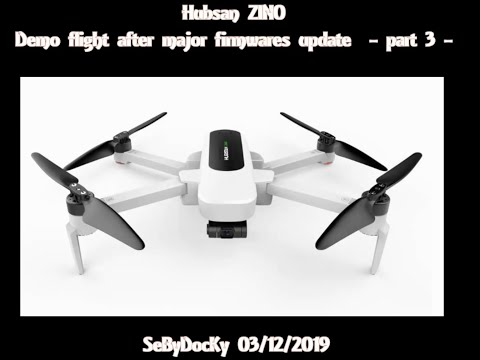 Hubsan Zino demo flight with last major firmwares upgrade