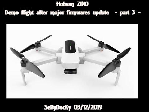 Hubsan Zino demo flight with last major firmwares upgrade