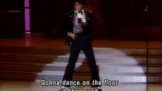 MICHAEL JACKSON- BILLIE JEAN( IN LIVE) + LETRA DE LA CANCION EN INGLES (IN STEREO)