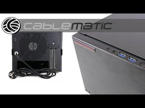 Caja cúbica ATX 4 discos duros SATA extraibles distribuido por CABLEMATIC ®