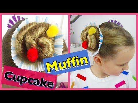 💗  Muffin / Cupcake Frisur & Kostüm Karneval / Fasching 💗 coole Mädchen Zöpfe & Frisuren