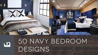 50 Navy Blue Bedroom Designs