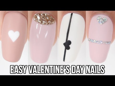 10 EASY Valentine's Day Nail Ideas! Nail art compilation
