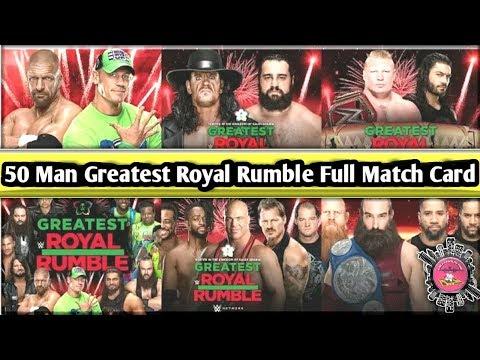 50 Man Greatest Royal Rumble Full Match Card//World Wrestling Tamil