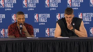 Damian Lillard & Meyers Leonard postgame reaction   Warriors vs Blazers Game 4