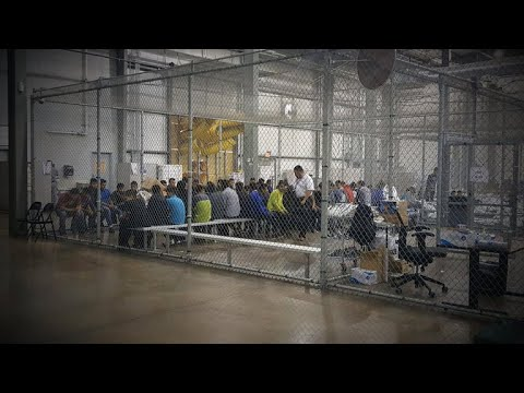 , title : 'Separated undocumented families held in cages at Texas facility'