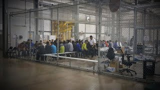 Separated undocumented families held in cages at Texas facility