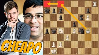 The Cheapo! || Anand Vs Carlsen || Chess24 Legends Of Chess (2020)