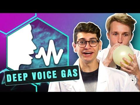 CRAZY DEEP VOICE GAS EXPERIMENT! (Smosh Lab)