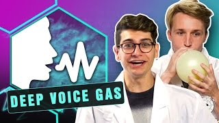 CRAZY DEEP VOICE GAS EXPERIMENT! (Smosh Lab)